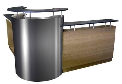 corcega 90 degree reception desk - Salon Reception Desk