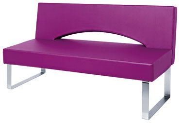 Bridge reception seating design x mfg salon equipment for Design x salon furniture