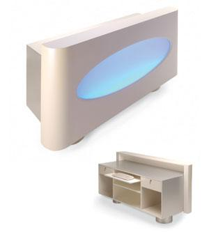 Amanicure tables new york 1 reception desk with for Design x salon furniture
