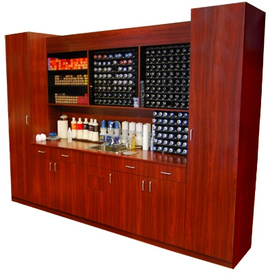 Color bar cabinet set design x mfg salon equipment for Armoire salon design