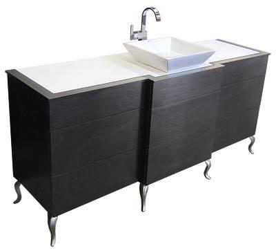 Wash station with metal feet design x mfg salon for Abc salon equipment