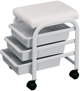 Handy Slim Salon Cart Manicure Rolling Stool Design X Mfg