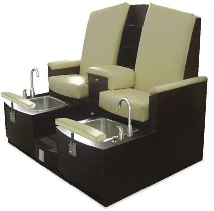 Clairmont loveseat pedicure design x mfg salon for Nail salon equipment and furniture