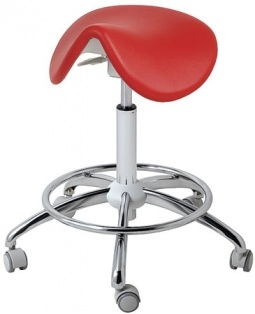 HARLEY Beauty Chair Stool , Comfort, Chrome Plated Base With Footrest