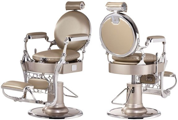 Vintage panamera barber chair design x mfg salon for Design x salon furniture