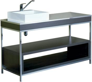 Ocean dispensary lower cabinet with basin and water mixer for Armoire salon design
