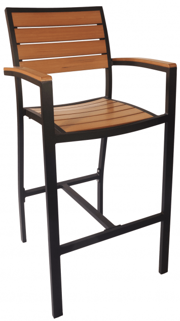 Largo barstool with armrest black design x mfg salon for Design x salon furniture
