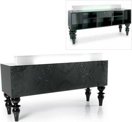 midnight desk reception desk illuminationglossy black or white front black or white furniture