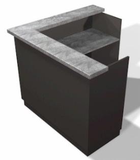 Mission reception desk 60 design x mfg salon equipment for L shaped salon reception desk