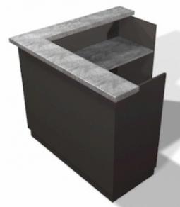 Mission Reception Desk 60 Design X Mfg Salon Equipment