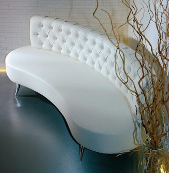 Fedra Reception Sofa 51in Design X Mfg Salon Equipment Salon Furniture Pedicure Spa