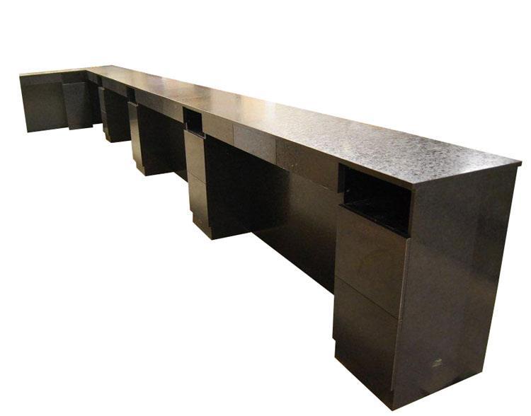 Nail bar with return design x mfg salon equipment for Nail salon equipment and furniture