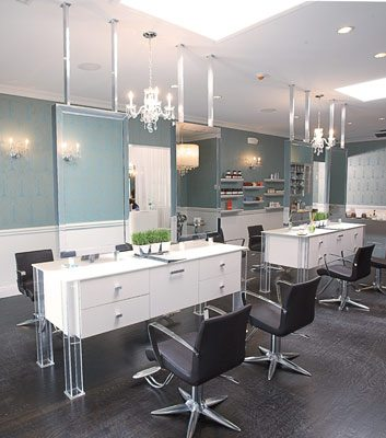 Magic 4 person island station design x mfg salon for Design x salon furniture
