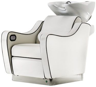 Wen optima relax with motorized foot rest and white g for Design x salon furniture
