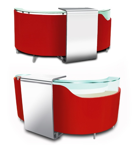 Ottico reception desk design x mfg salon equipment for Design x salon furniture