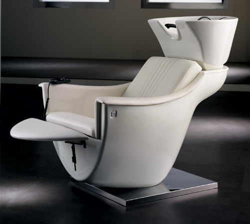 Pod legrest shampoo unit design x mfg salon equipment for Design x salon furniture